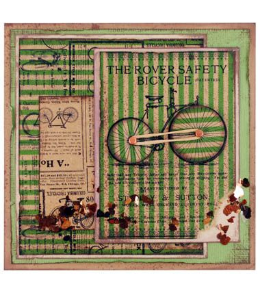 Stampendous » Rover Bicycle Card by Pam Hornschu