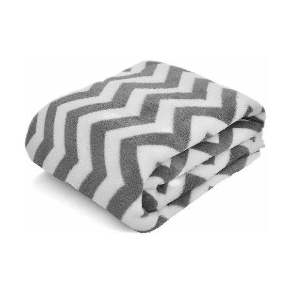 Mainstays Microplush 40 X 40 Throw Chevron Grey 40 Liked On Unique Grey And White Chevron Throw Blanket