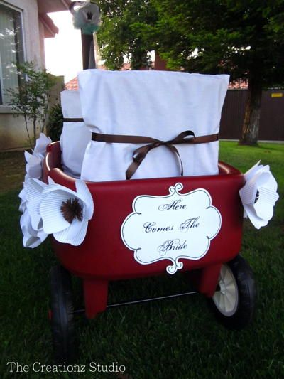 ring bearer wagon decorated wagon Kiddos Pinterest Ring