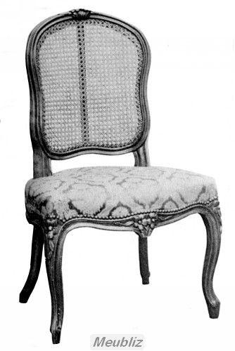 Chaise Cabriolet Louis Xv Garnie A Dossier Canne Par Meuble De Style Furniture Home Decor Dining Chairs
