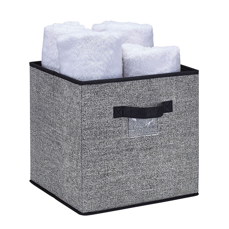 Kennedy International Storage Box Cube 12x12x12 Black Storage Box Storage Beach Signs Storage Box
