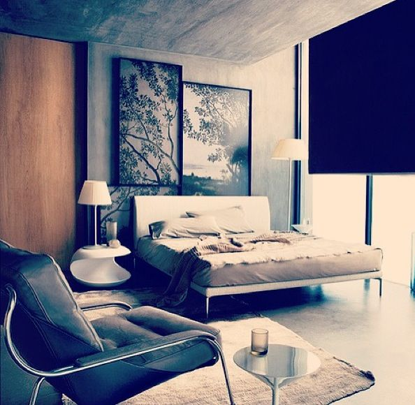 Concrete and neutrals! Sophisticated and trendy :) | Bedroom | Pinterest