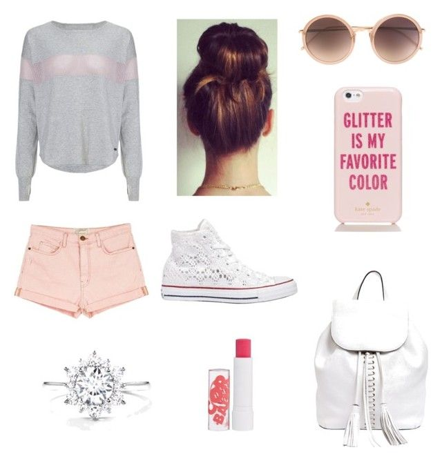 """Sin título #301"" by cutegirl0130 ❤ liked on Polyvore featuring Sweaty Betty, Current/Elliott, Converse, Rebecca Minkoff, Barry M, Kate Spade and Linda Farrow"