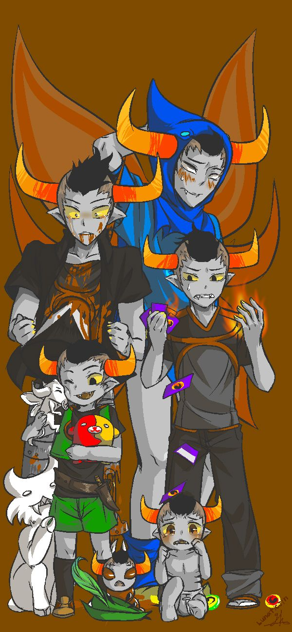 Tavros Nitram His growth cOMPLETE pICTURE }:) nEXT IS…. ————————————————— Many things have happened to him. 0_0 However, it was difficult to draw it in Chapter 6 only. @_@;; ——Growth picture...