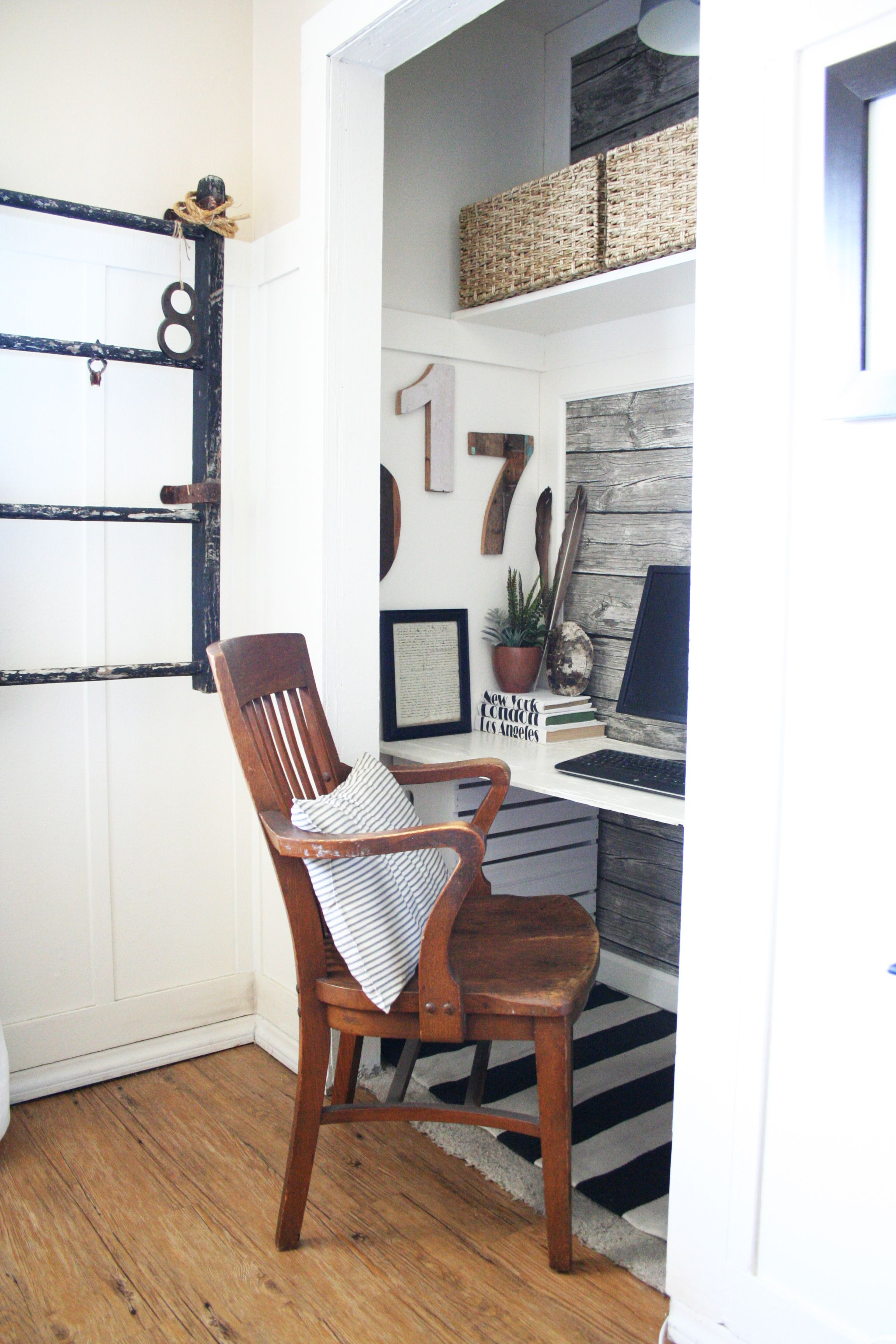 closet office desk. Office Closet Reveal - The Old Painted Cottage Another Idea Desk