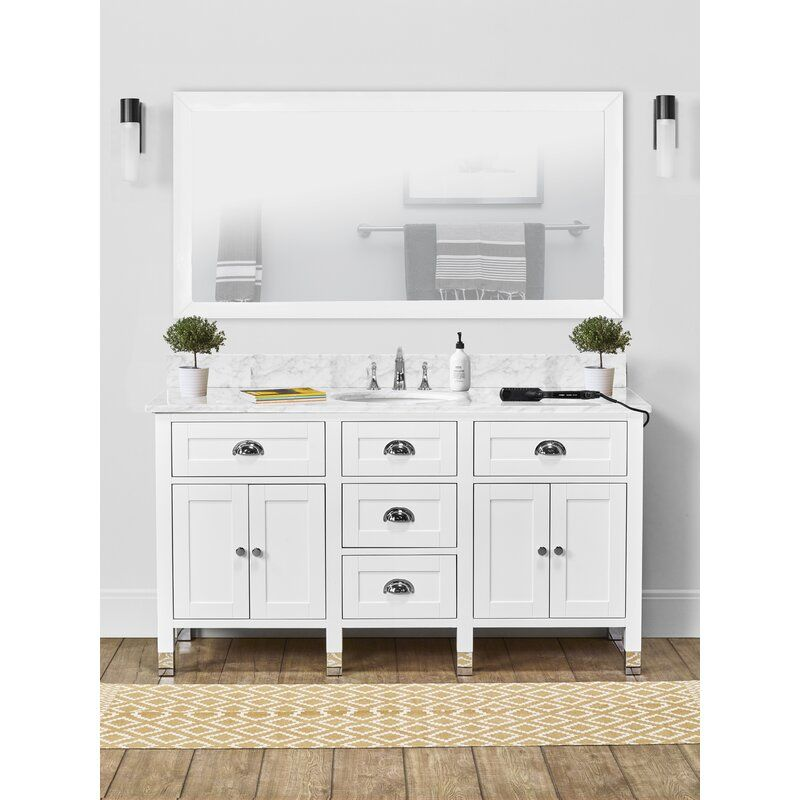 Shamar 60 Single Bathroom Vanity Set In 2020 Bathroom Vanity Single Bathroom Vanity Vanity Set
