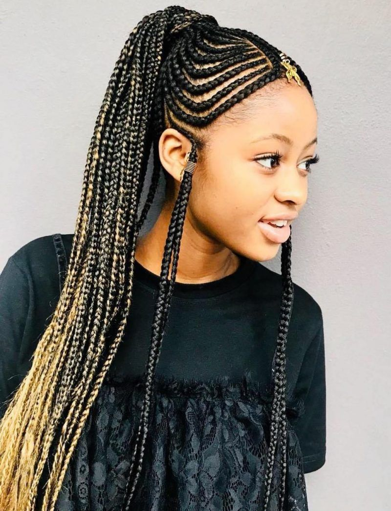 120 African Braids Hairstyle Pictures To Inspire You Thrivenaija African Braids Hairstyles Cornrow Hairstyles Hair Styles