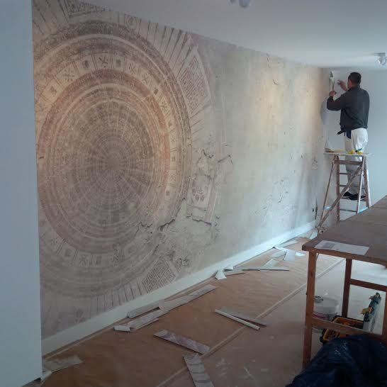 Wall and deco designbehang mandala wdma1402 klant interieur pinterest muur slaapkamer en - Deco originele muur ...