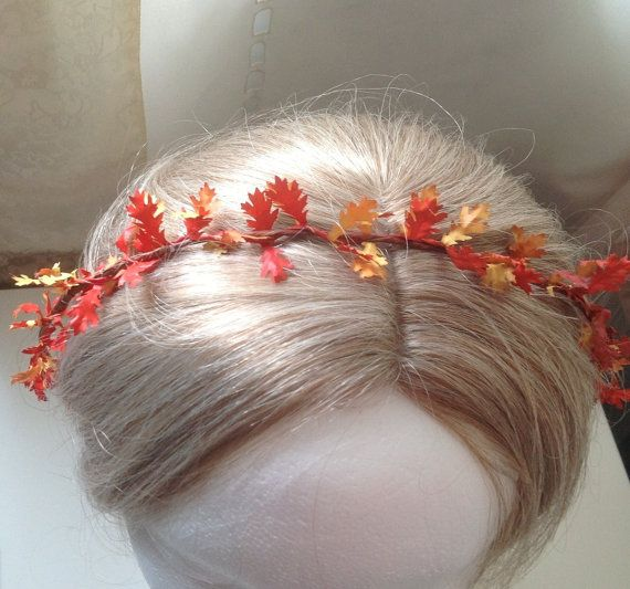 Fall Wedding Hairstyles With Flower Crown: Fall Wedding Hair Wreath