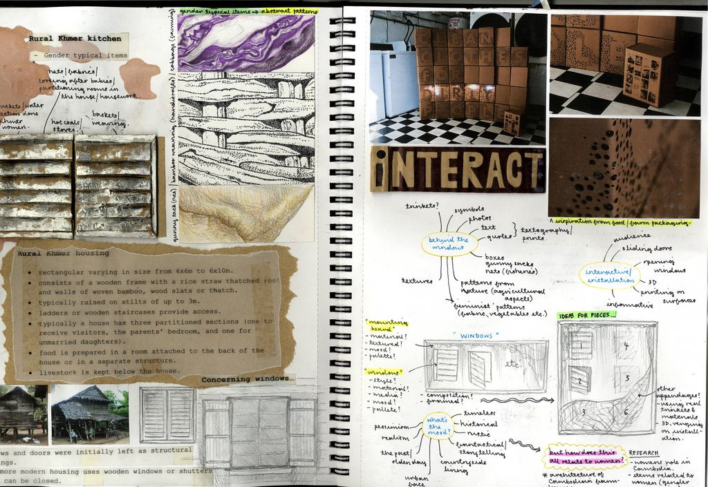 Another Example Of Presentation In A Sketchbook Interior Design Sketchbooks Study