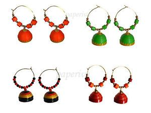 d04a32689d946 Classic Quilled Hoop Jhumka - Set of 4 Earrings Combo | Unbelievable ...