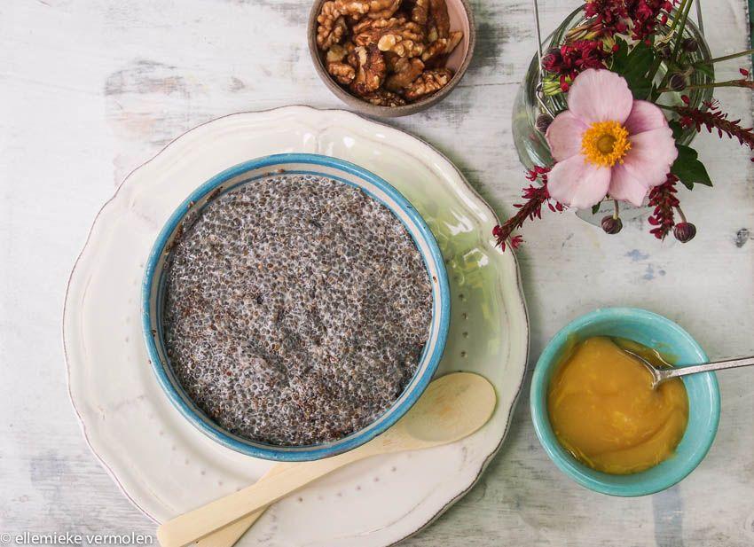 Deze chiazaad pudding is een goed begin van je dag. Eet het als een voedzaam ontbijt. Je kunt hem de …
