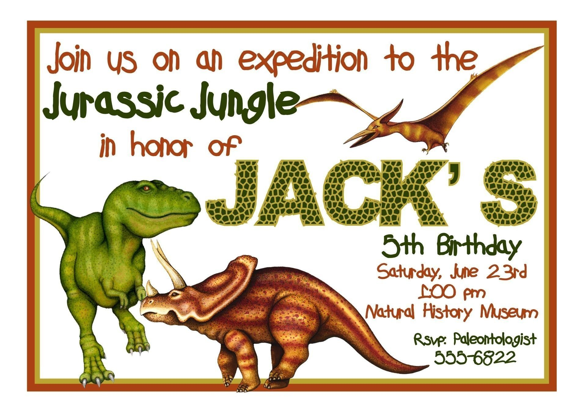 Free Dinosaur Invitations Posts related to Free Printable Dinosaur