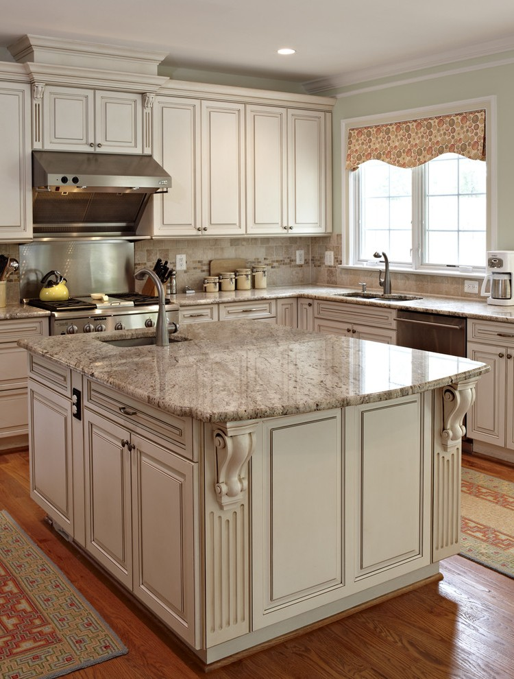 granite countertop pictures kitchen traditional with pendant lighting lighted pot racks and on farmhouse kitchen granite countertops id=63026