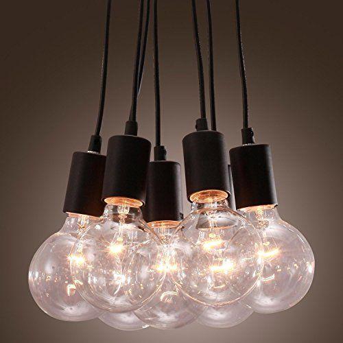 LightInTheBox Classic 40W E27 Pendant Light with 7 Lights Vintage ...