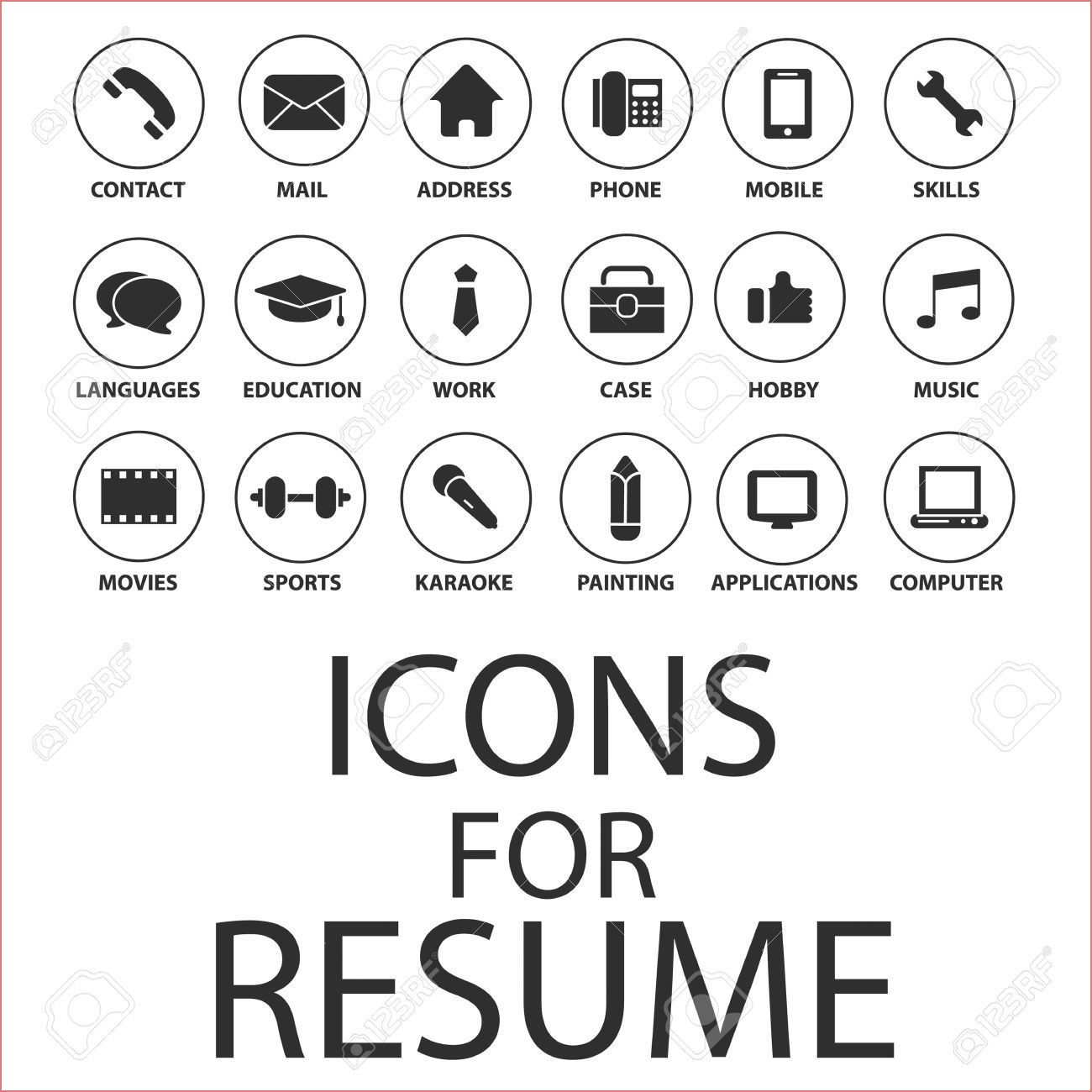 Human Ressource Hr Bewerbung Vector Icon 8