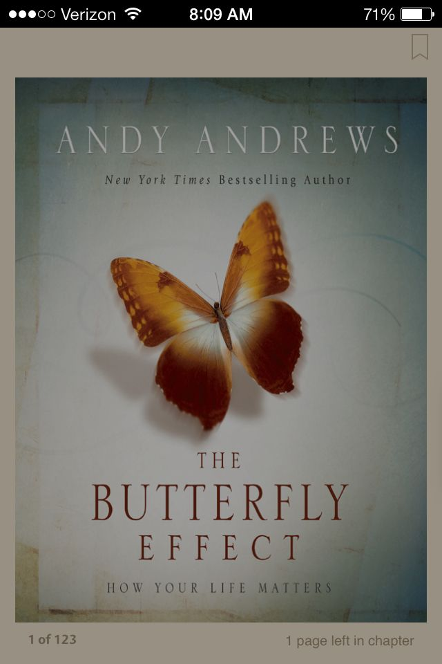 Butterfly Effect Book