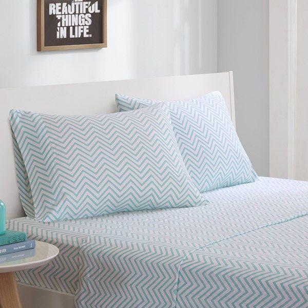 Cotton Blend Jersey Knit All Season Sheet Set By Intelligent Design Bed Sheet Sets King Sheet Sets Sheet Sets Full Jersey knit sheets twin xl