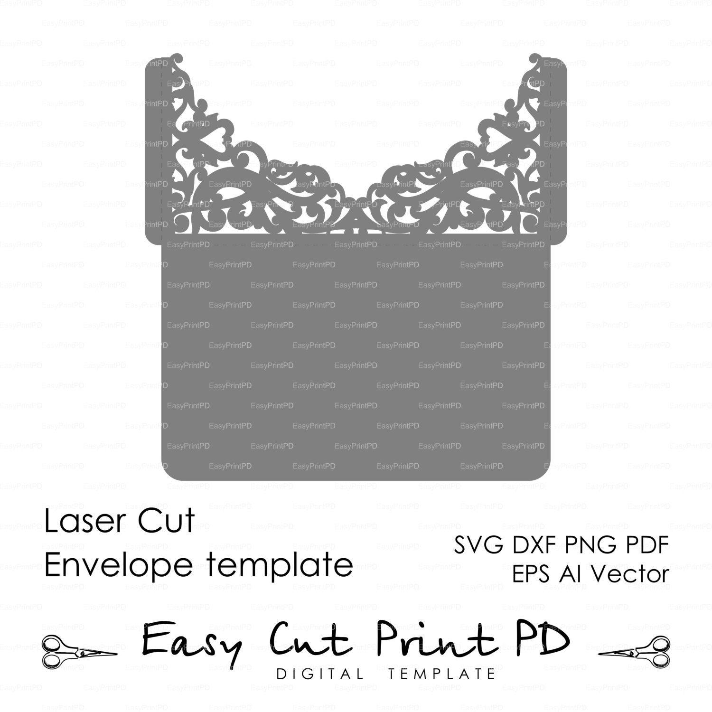 Scroll Wedding Envelope Pattern Template Swirl  Easycutprintpd