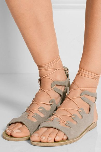 Ancient Greek Sandals' gladiator-inspired 'Antigone' sandals are handmade  using traditional techniques. Lace Up SandalsSuede ...