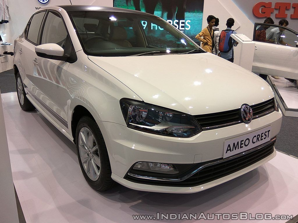Vw Ameo Crest Showcased At Aps 2017 Product Launch Automobile Volkswagen