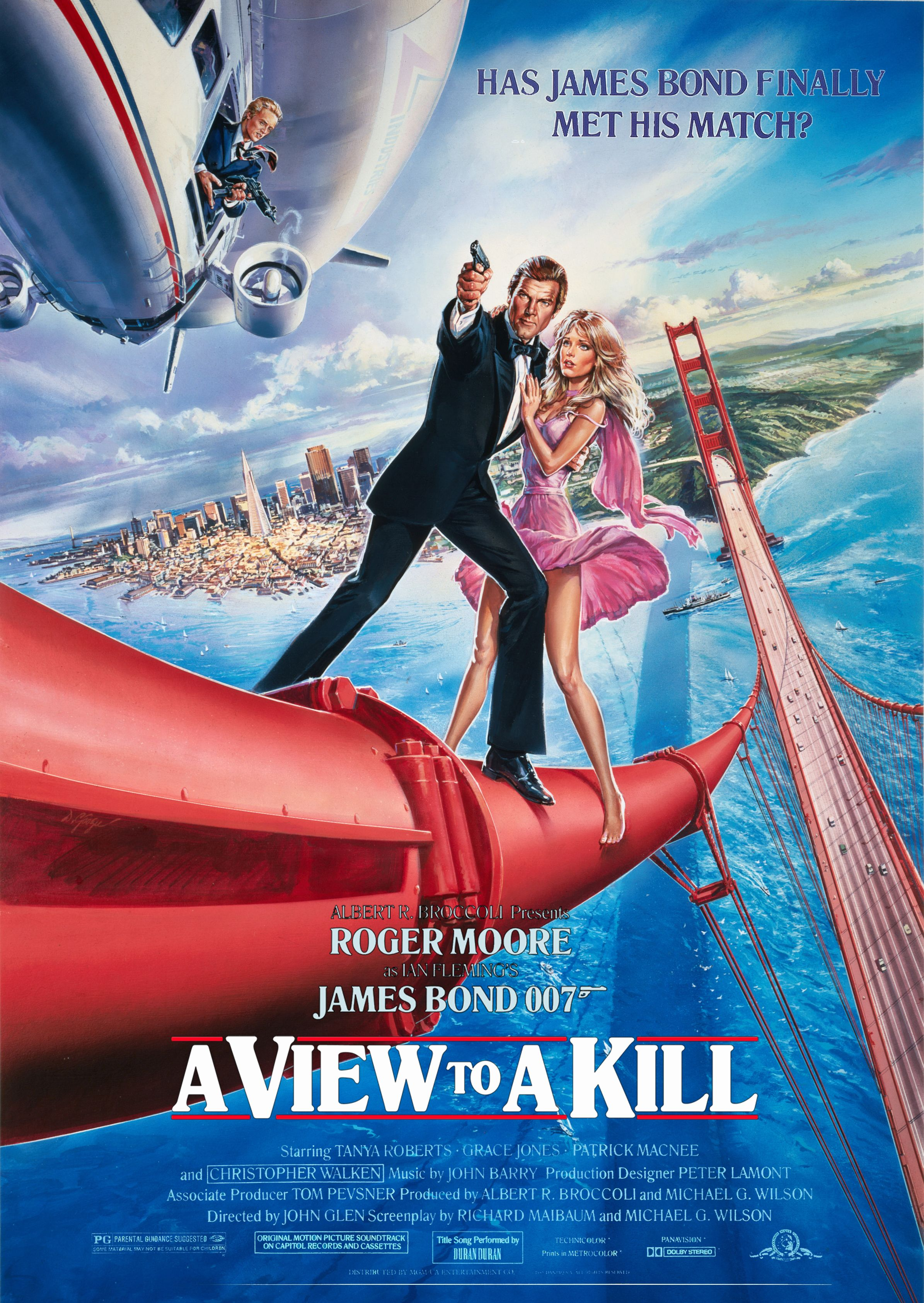 A View To A Kill 1985 Poster Restoration Performed By Darren