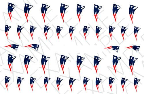 New England Patriots Nail Decals by AMnails on Etsy   makeup ...
