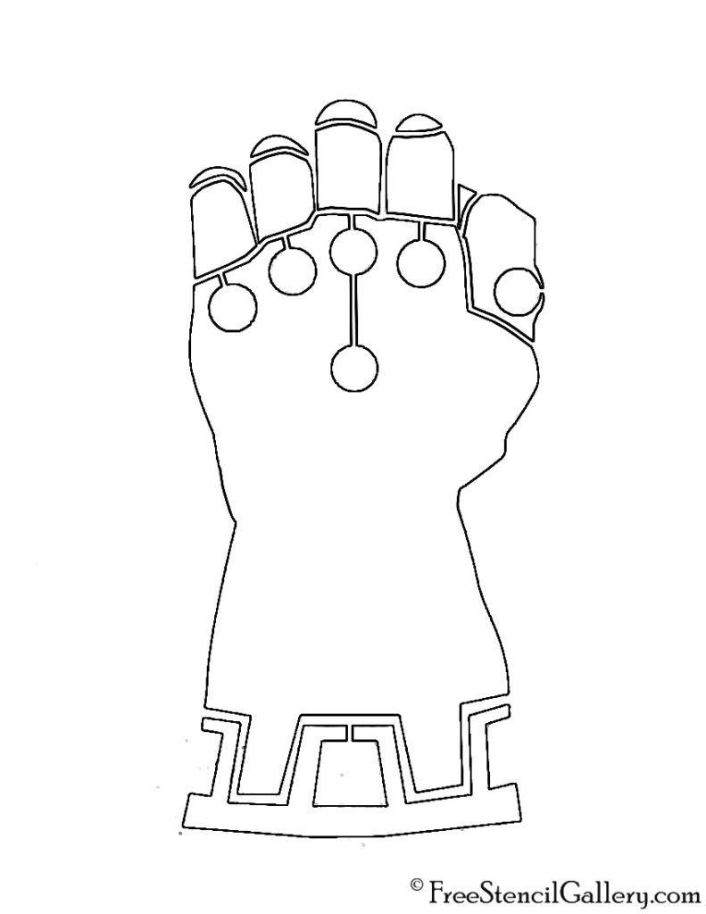 Infinity Gauntlet Stencil Free Stencil Gallery Guante De Thanos Fiesta De Los Vengadores Tema De Súper Héroe