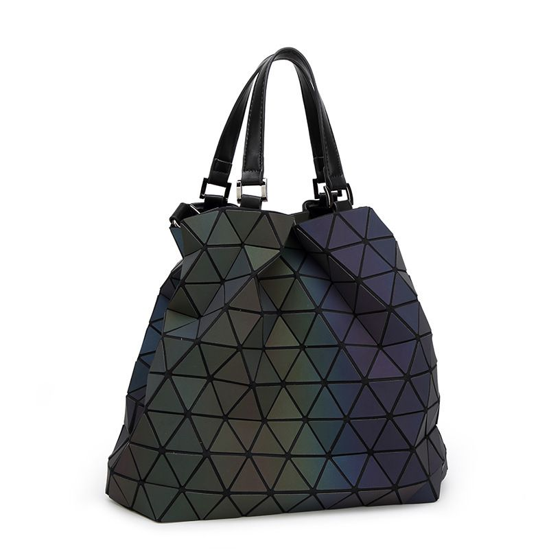 women handbag bag female designers Brand big European style luminous  fashion geometric laser ladies hand shoulder 369e993fdf7f7