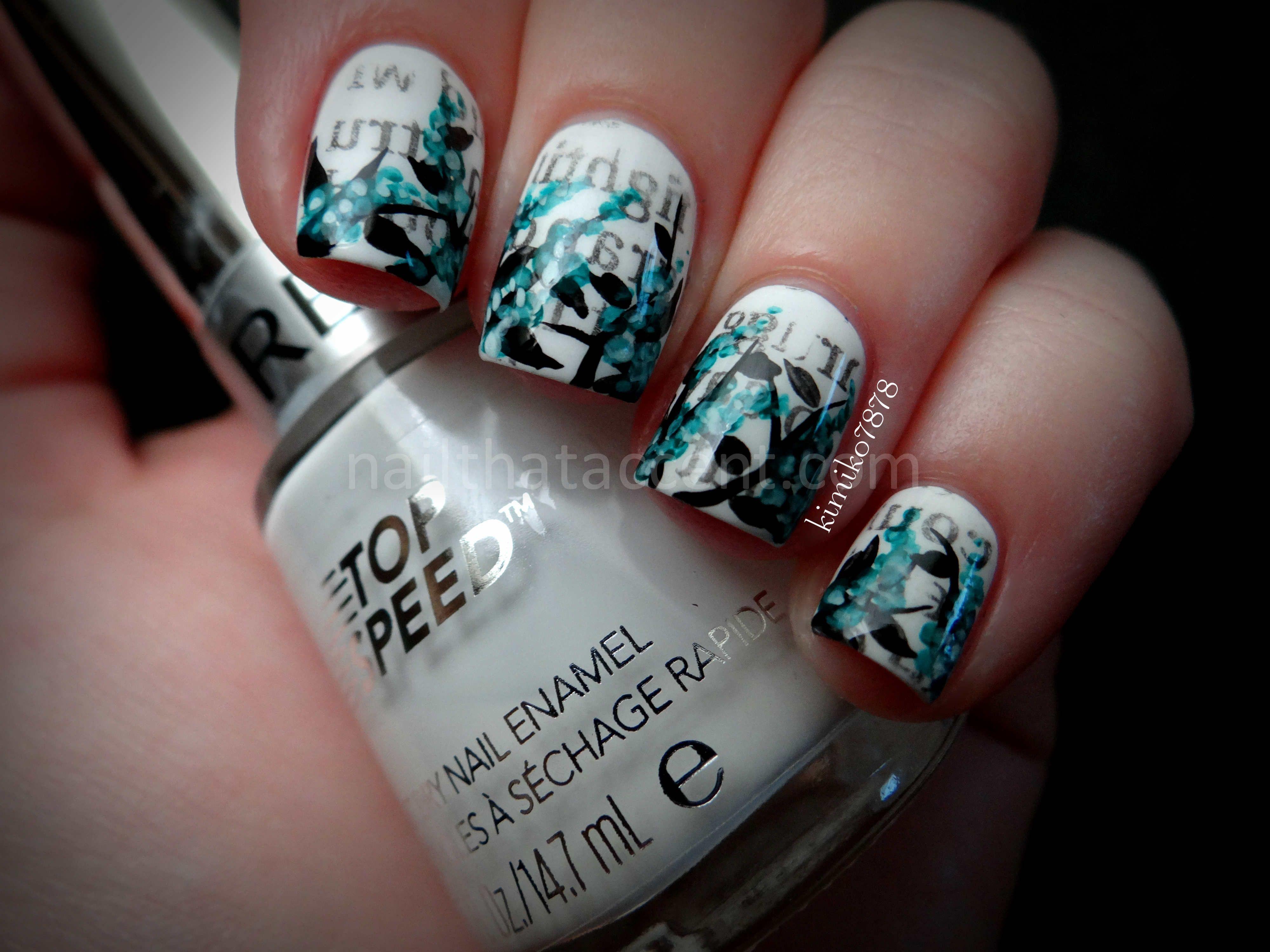 Newspaper nail art | Art | Pinterest | Newspaper nail art and ...