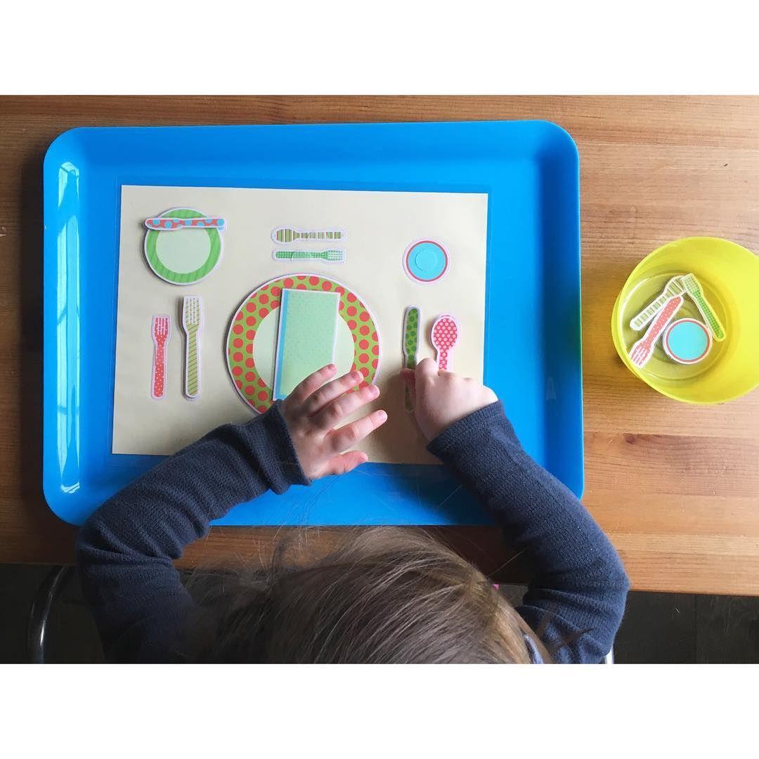Preschool Place Setting Matching Activity