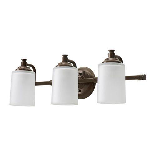 IKEA - VIPPARP Wall lamp, 3-spots bronze color Pinterest Walls