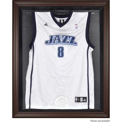 Mounted Memories NBA Logo Jersey Display Case Frame Finish: Brown ...