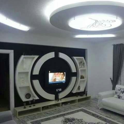 Living Muebles Para Televisores Diseno De Techo Pared De Entretenimiento