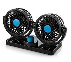 Amazon Com Abovetek Dual Head Car Auto Cooling Air Fan Quickly