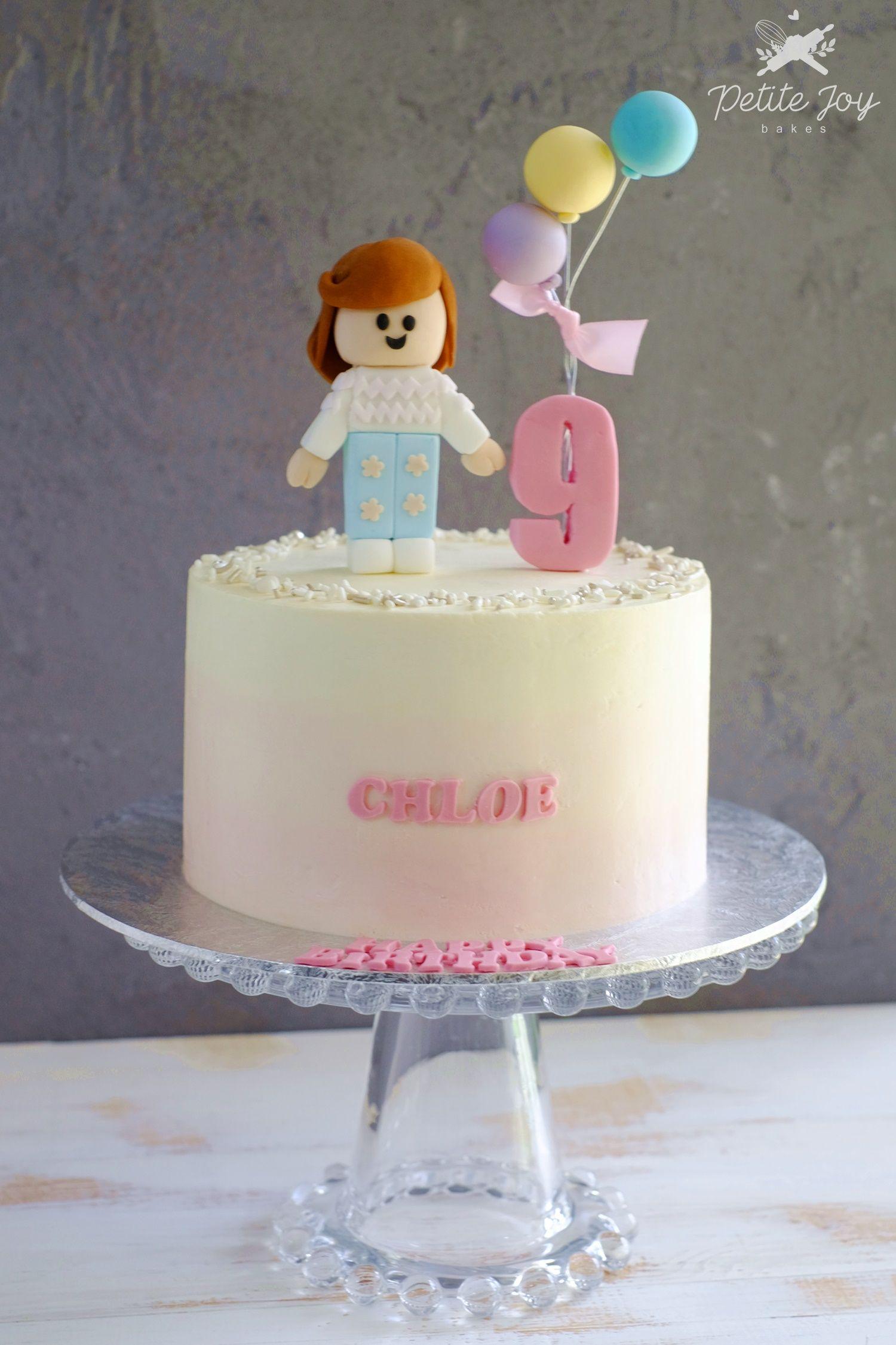 Roblox Birthday Cake Ideas Girl Roblox Girl Ombre Cake Roblox Birthday Cake Birthday Cake Girls Themed Cakes