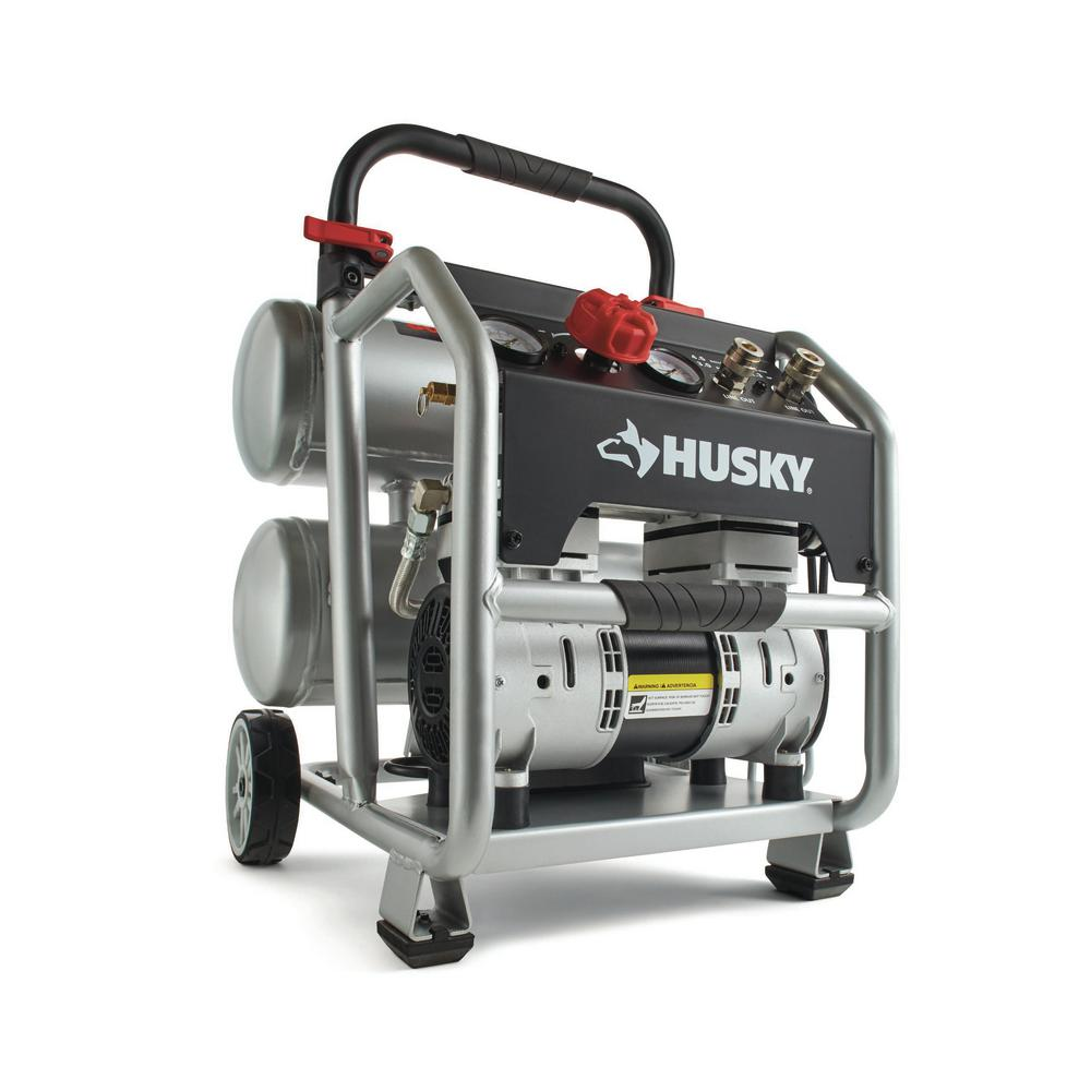 Husky 4.5 Gal. Portable ElectricPowered Silent Air