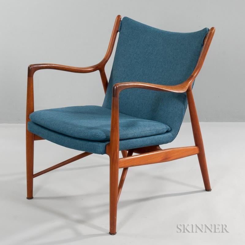 Finn Juhl (Danish, 1912-1989) 45 Chair - Teak, upholstery ...