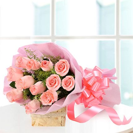 Buy & send Elegance online with Ferns N Petals. Order Elegance - Bunch of 12 baby pink roses. with free shipping in India.