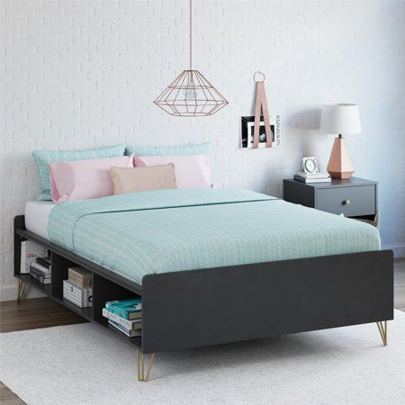 Novogratz Owen Full Bed Dove Gray Walmart Com Platform Bed