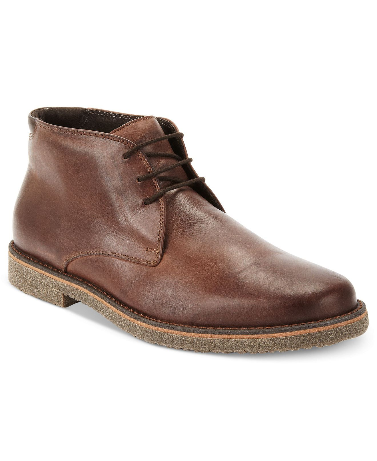 Alfani Boots, Lancer Leather Chukka Boots - Shoes - Men - Macy's ...