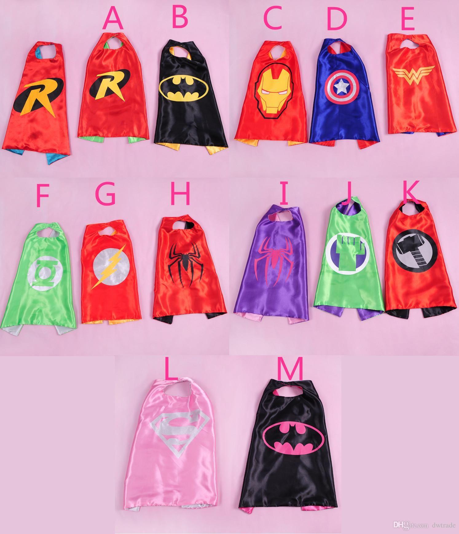 2015 Hot Kids Superman Cape Superhero Cape Boys Girls Costume ...