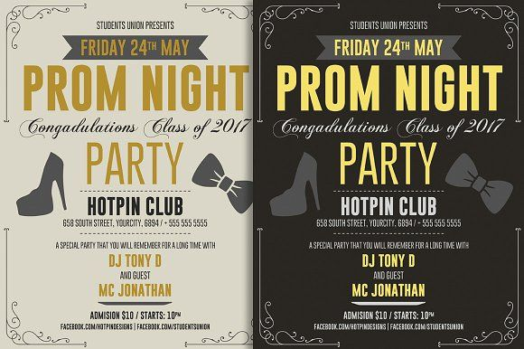 Prom Party Flyer Template @creativework247 Templates - Templates - prom invitation templates