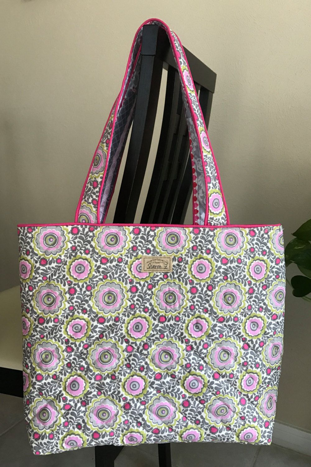 Vera Bradley Style Quilted Tote Bag Carry On Overnight Diaper Classy Gift For Her Teacher Birthday By PawpaintsUS