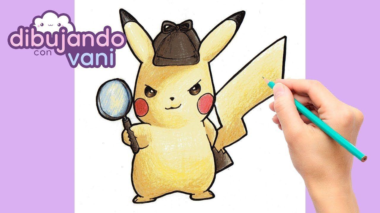 Como Dibujar Pikachu Detective Kawaii Dibujos Imagenes Faciles