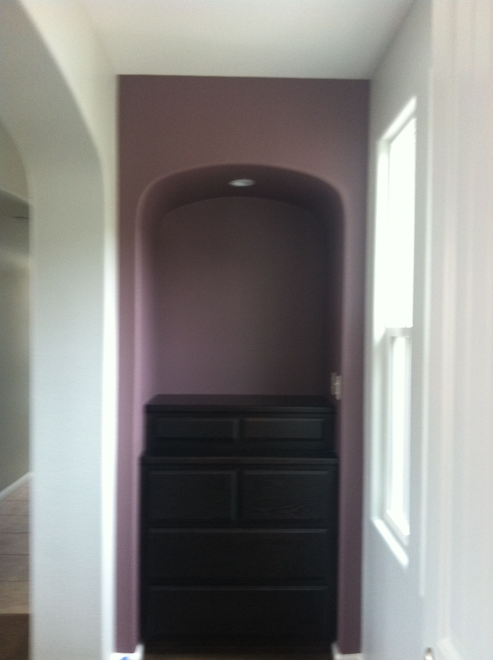 Wow 1 Day Painting San Jose Franchise Feature Wall In Hallway Paint Purple Orchid Feature Wall Wallpaper Feature Wall Painted Feature Wall