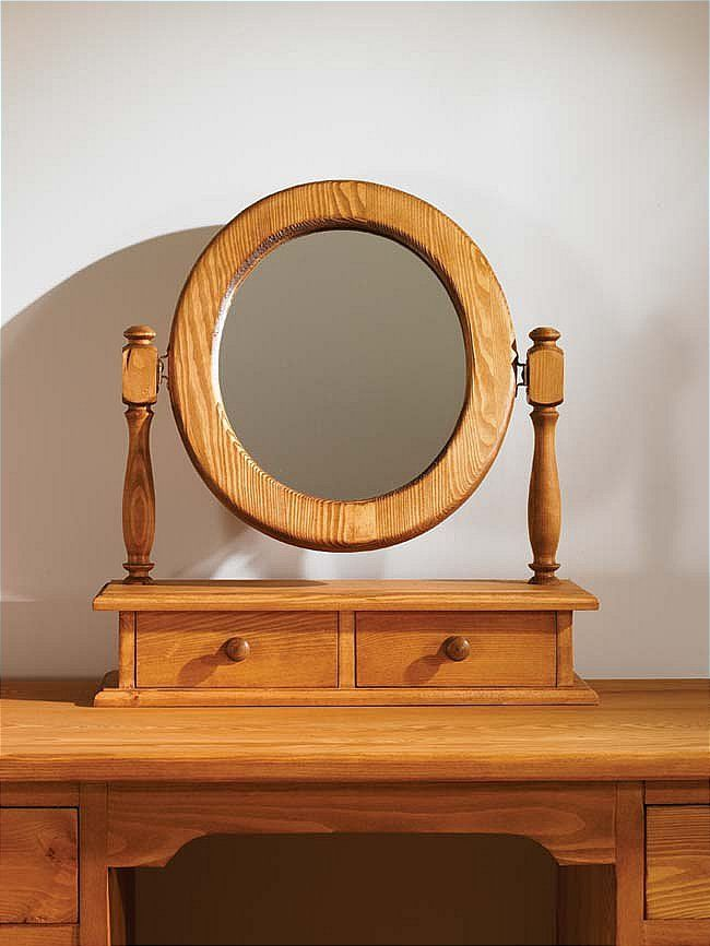 Waxed Pine Dressing Table Mirror Oval Mottisfont An Oval Shaped Waxed Pine Dressing Table Mirror With  Drawers Which Have A Choice Of Wooden Knobs Or