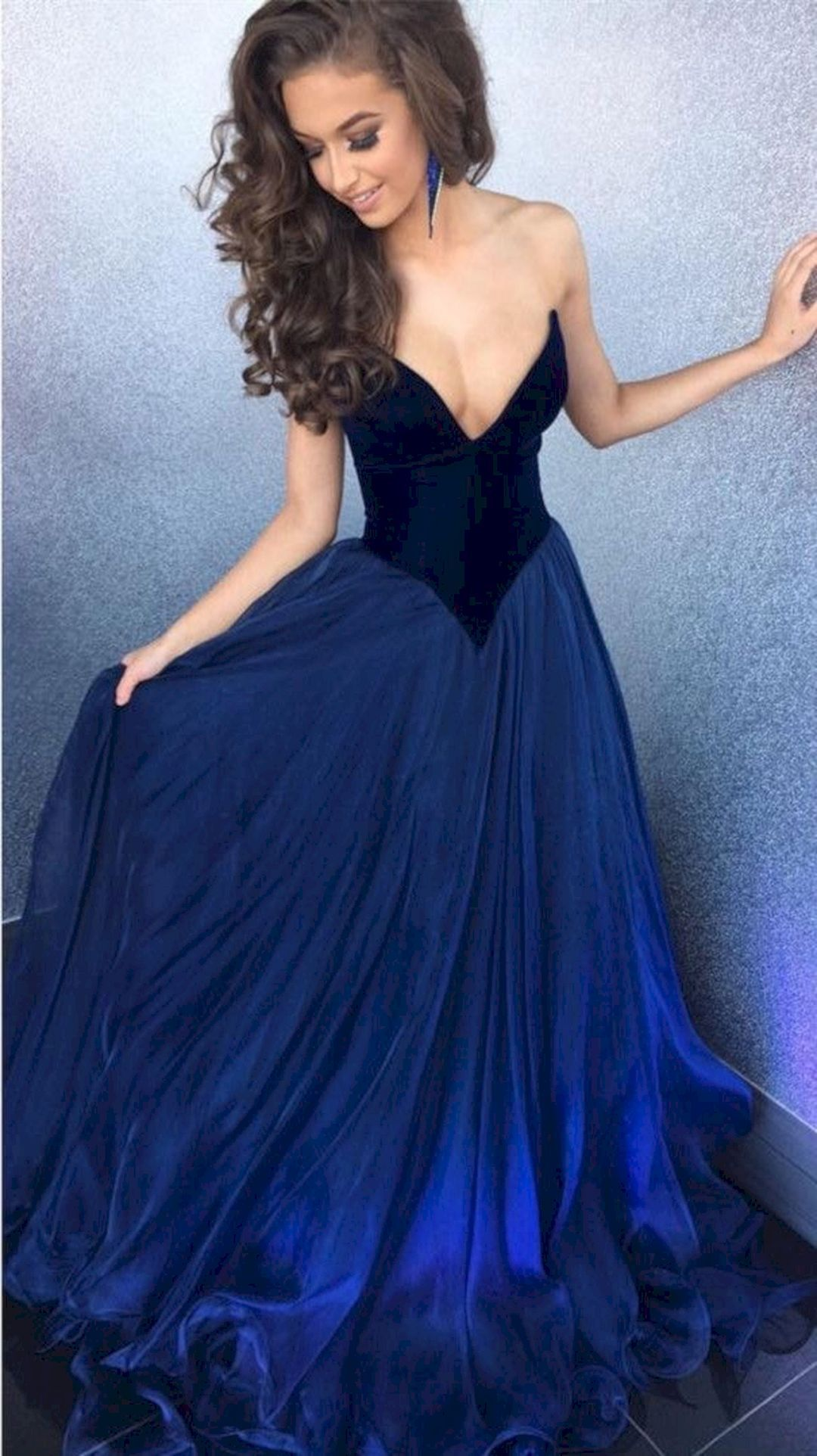 0f9fb9287 V-Neck A-Line Prom Dress,Sleeveless Backless Evening Dress in 2019 ...