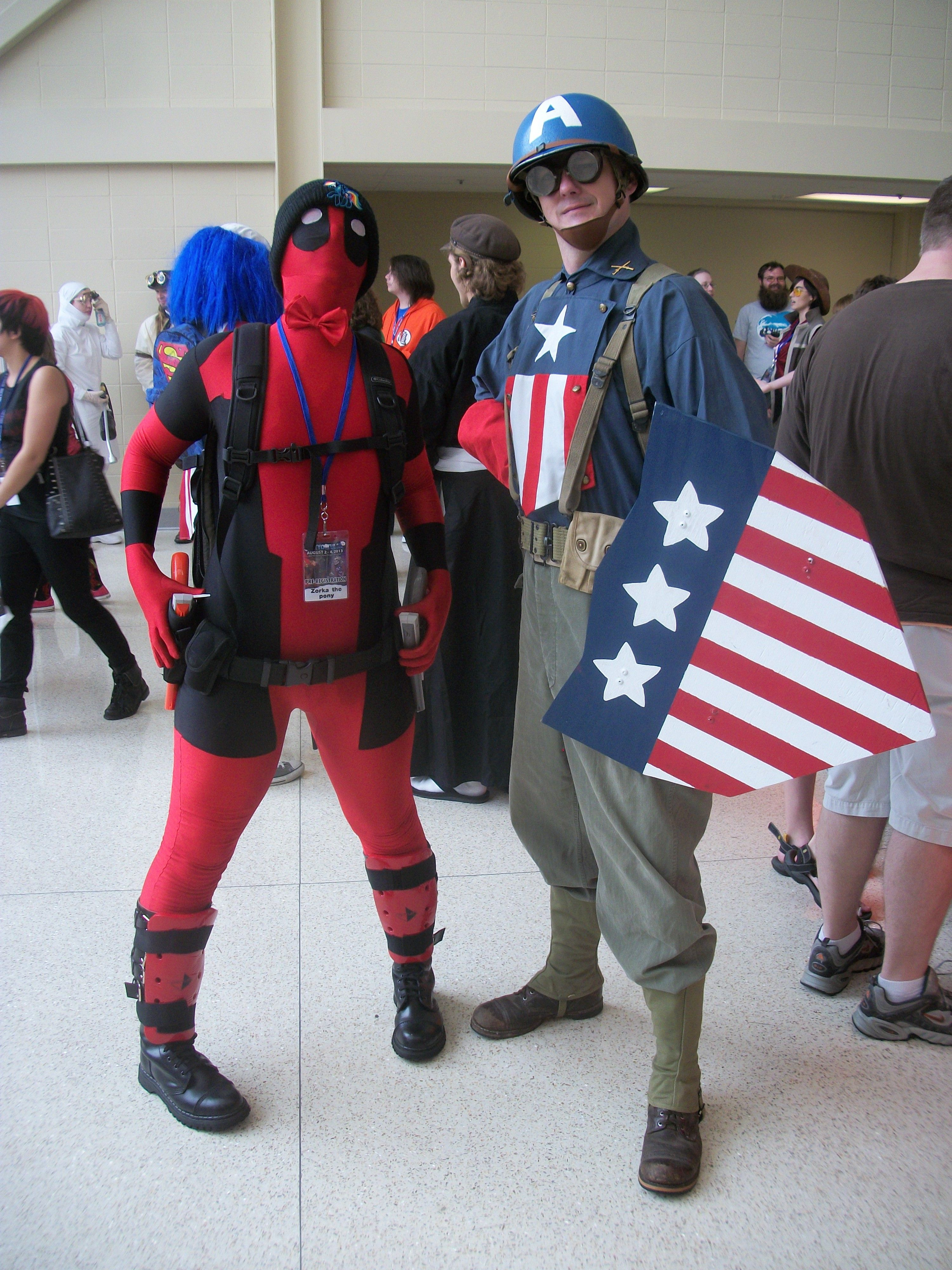 Captain America and Deadpool, Tokyo in Tulsa, July, 2013 ...