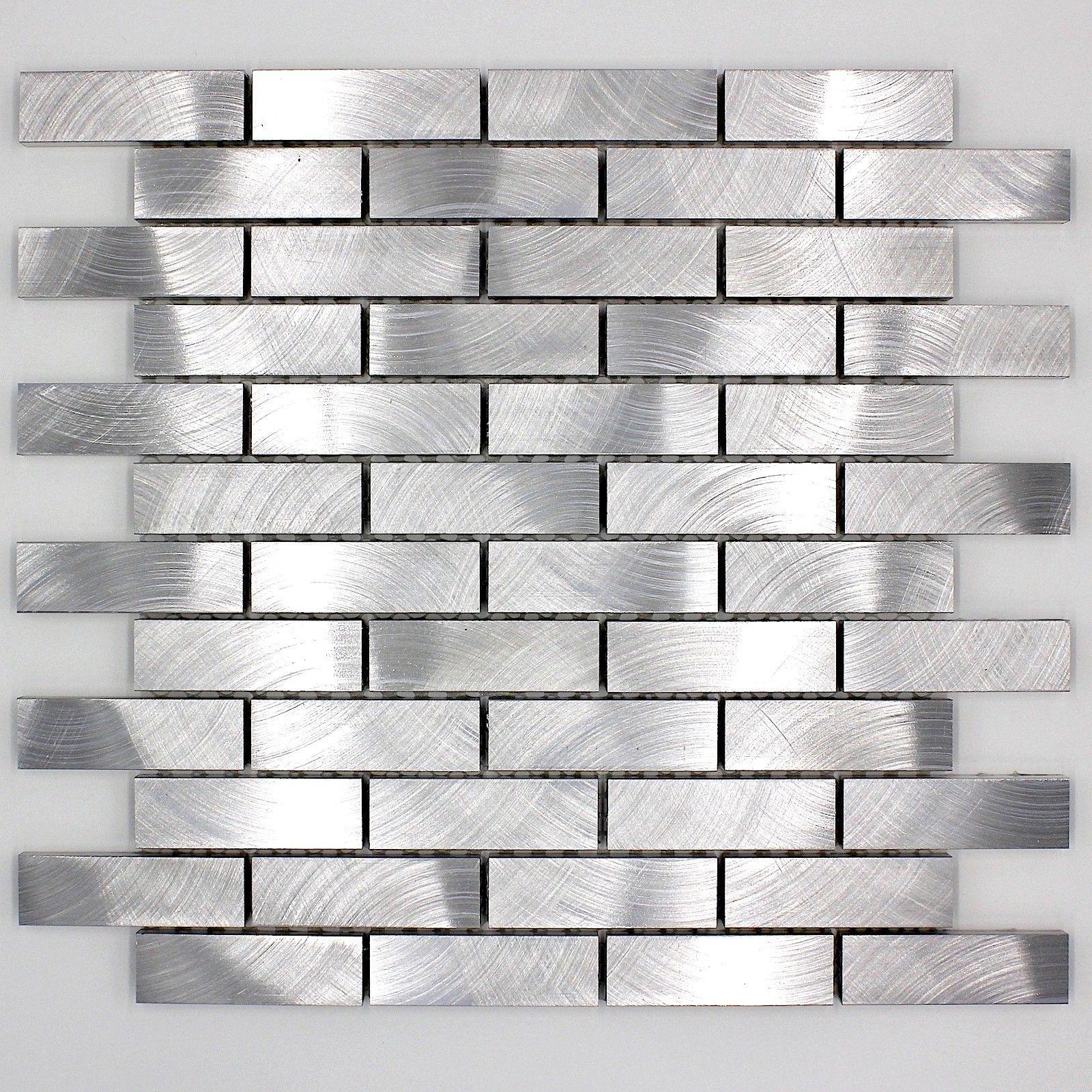Carrelage Mosaique Murale Aluminium Mabri Longueur - Carrelage épaisseur 6 mm
